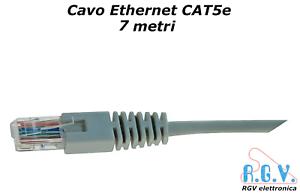 Cavo-di-rete-ethernet-RJ45-UTP-LAN-CAT5e-patch-cord-7mt-per-smart-TV-SKY-modem