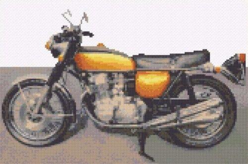 """ANCORAGGIO HONDA Motocicletta-Veicolo CROSS STITCH KIT 12 /""""x 8/"""" 14 count Aida"""