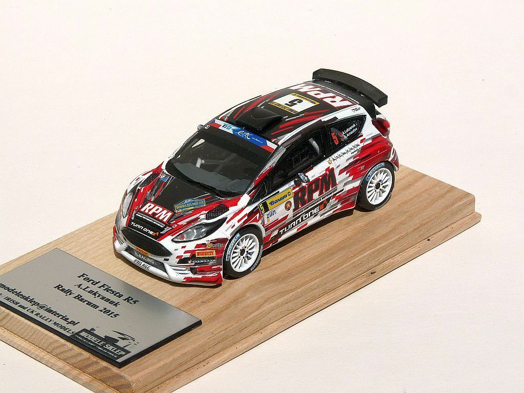 Alexey lukyanuk Rally BARUM 2015 Ford Fiesta r5 1 43 Rally Model code 3