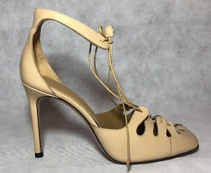 vendite dirette della fabbrica The Row donna scarpe Dimensione 37.5 NIB Lace Up Up Up High Heel rosa Nude  ordina adesso