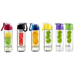 800ml Früchte Infusion Flasche Wasserflasche Trinkflasche Sport Obst
