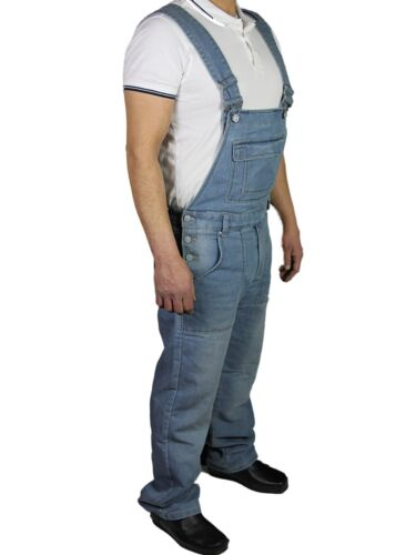 McCarthy Mens Jeans Denim Blue Dungarees Dungaree Overalls All Waists 30-60