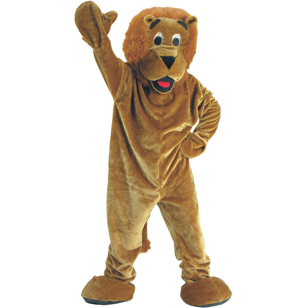 Deluxe Plush Roaring Lion Mascot Costume For Kids And Adults By Dress America