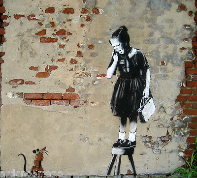 BANKSY GIRL SWING CANVAS PRINT Wall Decor Art Graffiti Street Painting Giclee