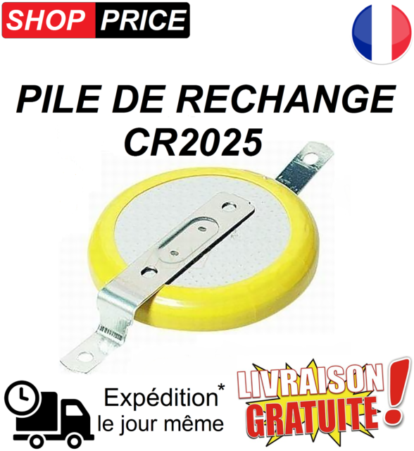 Pile de rechange CR2025 (Pokemon Or, Argent, Cristal Game Boy sauvegarde) (NEUF)