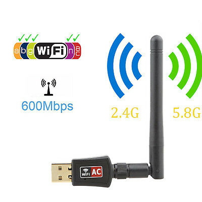 Dual Band 600Mbps Wireless USB WiFi Adapter Dongle AC600 2.4G//5G Home Network US