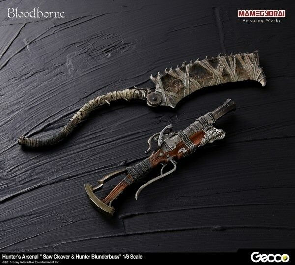 GECCO BLOODBORNE HUNTERS FC ARSENAL SAW CLEAVER & BLUNDERBUSS SET 1/6 TREPPE