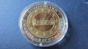 Das Bild Wird Geladen Medaille BRD Bimetall 60 Jahre Bundesrepublik Deutschland In