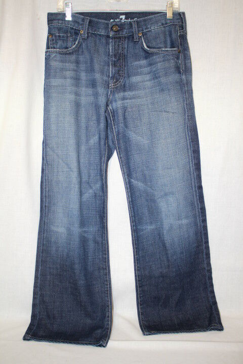 7 For All Mankind SEVEN Dark Wash 100% Cotton JEANS Womens Size 31 USA-B89