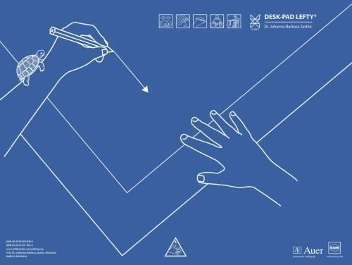 Barba Sattler 43x50cm DESK-PAD Lefty Schreibtischauflage für Linkshänder Dr