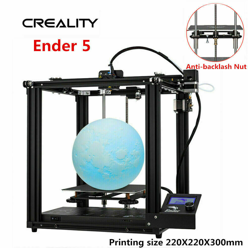 UK Stock Creality Ender 5 3D Printer 220X220X300mm Thermal Runaway Protection