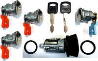 Ford Ignition Switch Lock Cylinder + Four (4) Door Lock Cylinder W/2 Logo Keys