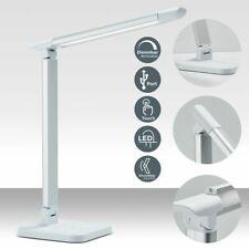 LED Schreibtischleuchte mit Ladestation USB 5 Volt Bürolampe Dimmbar Weiß T124