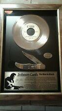 Johnny Cash Antique Bone Gold Record Commemorative CA6792 Serialized #126