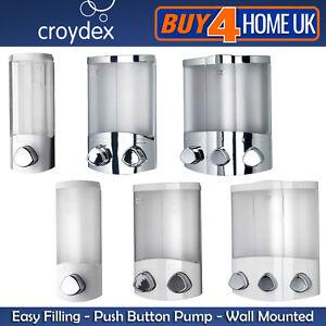 Croydex Euro Soap Shower Gel Bathroom Pump Dispenser Wall Mounted ...