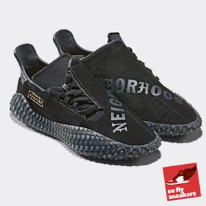 Nbhd (quartier) x adidas Originals Kamanda | UK8.5/US9 | Noir | Rare