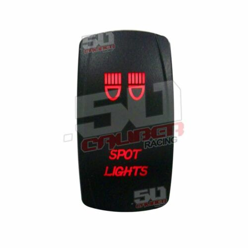 Illuminated 12V Rocker Switch Spot Lights UTV RZR Teryx Maverick X3 YXZ1000R Red