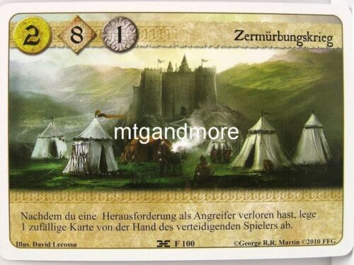 Die Maske des Erzmaesters 1x Zermürbungskrieg  #100 A Game of Thrones LCG