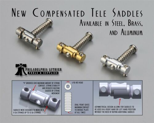 "Individual Compensated Telecaster Saddle 5//16/"" Offset Barrel Brass"