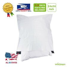 50 150 24x24 White Poly Mailers Large Envelopes Plastic Shipping Bags 217 Mil