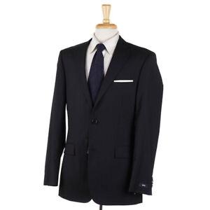 NWT-895-HUGO-BOSS-039-Pasini-Movie-039-Black-Super-100s-Wool-Suit-38-L-Classic-Fit