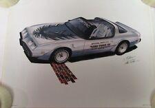 1980 Pontiac Trans Am Indy 500 Pace Car Limited Ed Print Steve Pasteiner 1980 GM