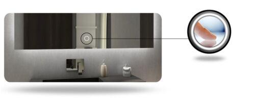 Paris Bathroom Mirror with LED LightingclockSWITCHVanity MirrorHeating