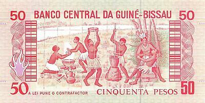 Humble Guine-bissau 50 Pesos 1990 Paper Money: World