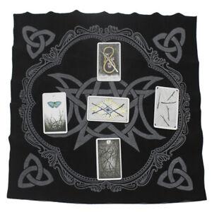 Triple Moon Pentagram Altar Tarot Cloth Divination Cards Wicca Velveteen 2021
