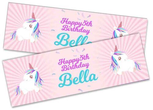 Details about  /x2 Personalised Birthday Banner Toddler Design Children Kids Decoration 179