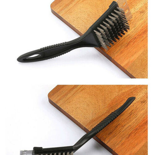 BBQ Grill Brush Wire Cleaning Brush Scraper with Stainless Steel Bristles Fan
