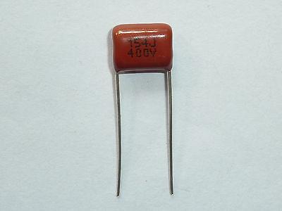 200PCS CBB21 154J 400V 0.15UF 150NF P10 Metallized Film Capacitor