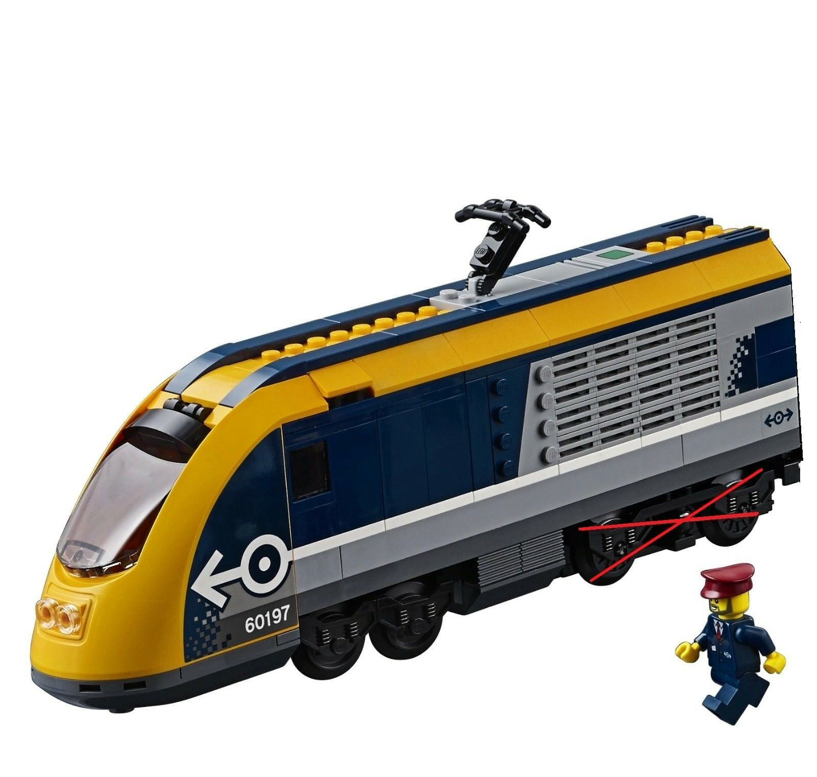 NEW LEGO City Passenger train 60197 Locomotive only - No Powered UP