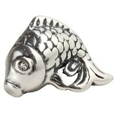 FISH CARP Genuine 925 Sterling Silver Charm Bead Fits European Bracelet