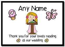 Thank You For Doing A Reading At Our Wedding Girl  Personalised Placemat