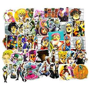 50-Pcs-Jojo-039-s-Bizarre-Adventure-Waterproof-Car-mil-J1K9