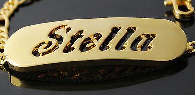 Objective Namensarmband 'stella' 18k Gold Beschichtet Wristbands Valentinstag Geschenke Für Sie A Great Variety Of Goods