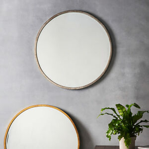 Higgins-Large-Champagne-Silver-Round-Rustic-Metal-Wall-Mirror-31-5-034-80cm