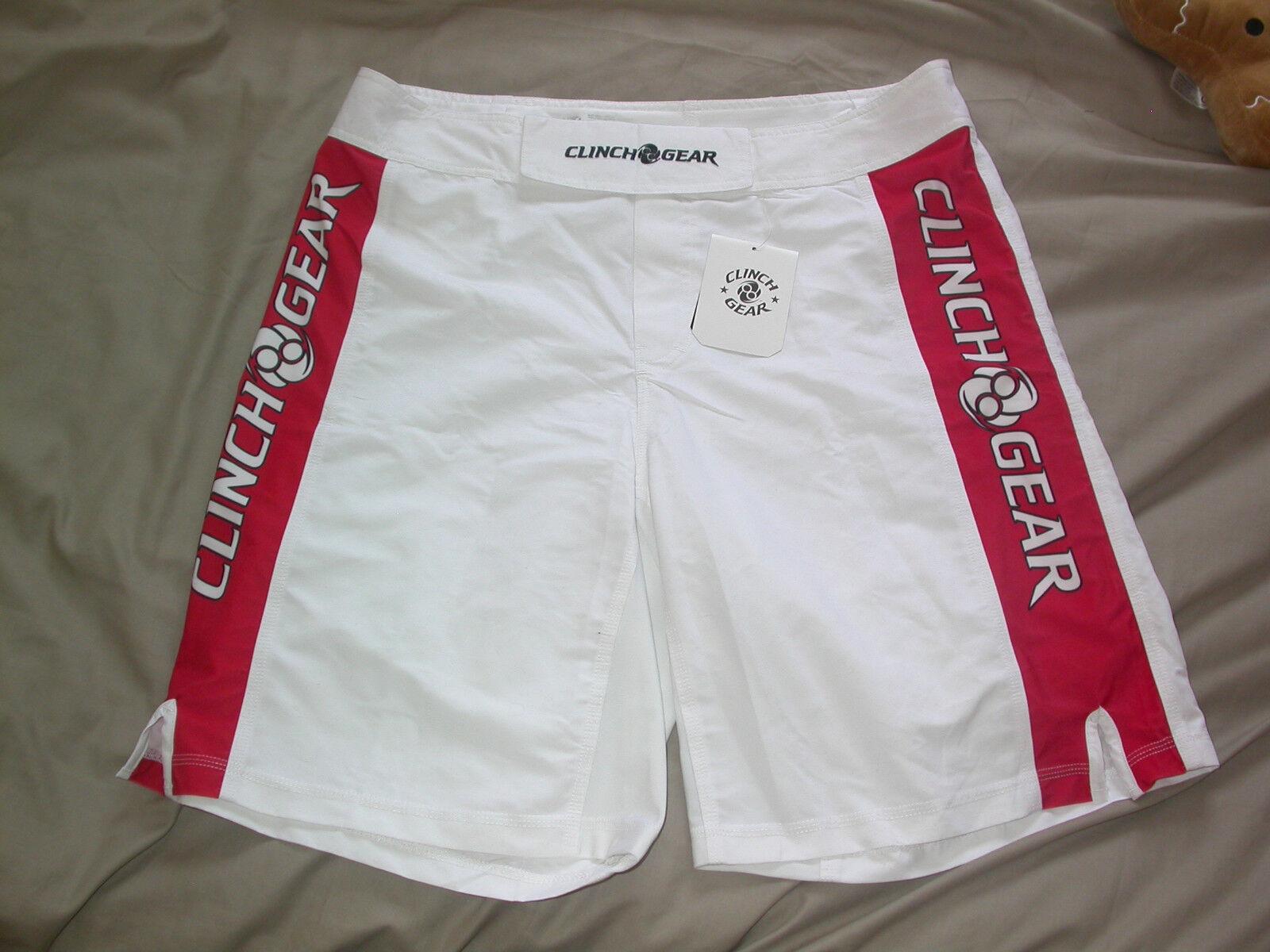 CLINCH GEAR SHORTS 36W XL EXTRA LARGE . UFC MMA BJJ JIU JITSU NOGI KSW GYM NEW