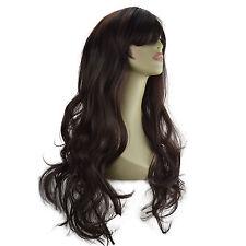 """22"""" Ladies Beautiful Full WIG Long Hair Piece LOOSE WAVES Dark Brown #4"""