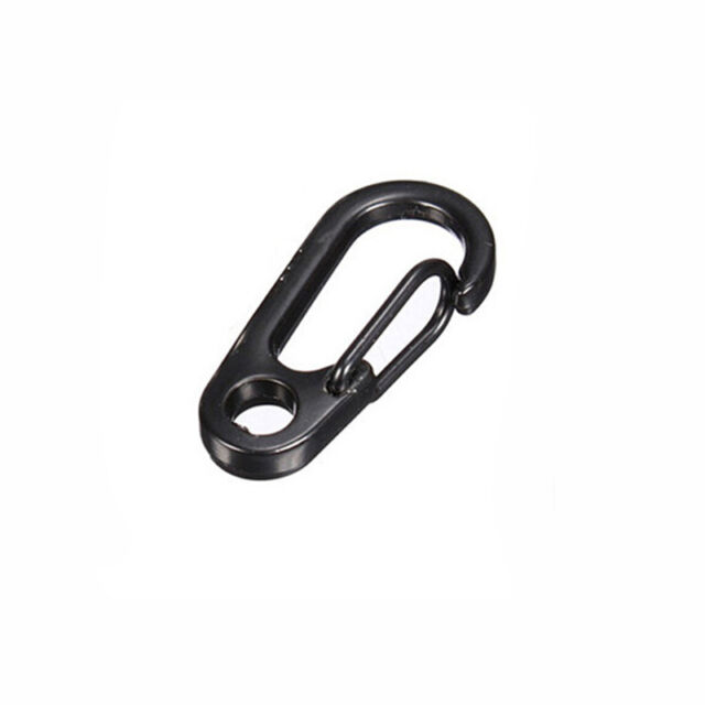 Stainless Steel Split Key Ring Clasps Clips Hook EDC Backpack Tactical Survival