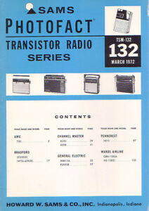 sams photofact transistor radio series repair manual tsm 132 ebay rh ebay com HP Officejet Printer Manuals Nevada Sam Manual