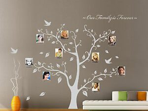 Our Family Tree Forever Photo Frame Wall Stickers Decal Vinyl Decor