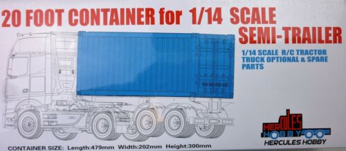 20 foot CONTAINER for Tamiya 114 RC Semi Trailers Tractor Trailers Hercules