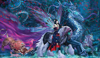 Mtg Playmat Artists Of Magic Ride Of Yokai With Artwork By Ruth Thompson