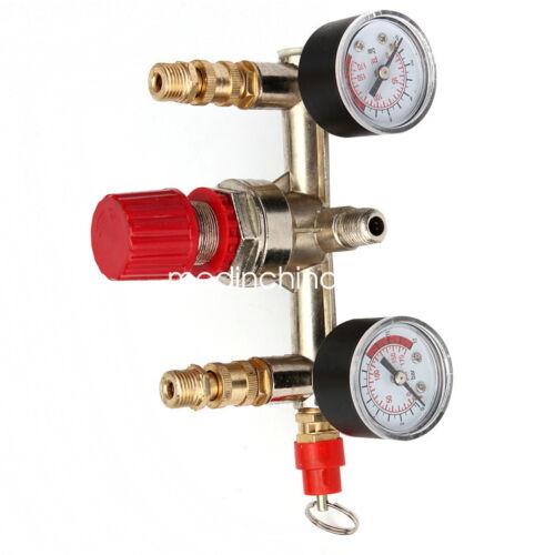 Compresor De Aire Control de Presión Regulador Colector De Válvula de conmutación indicadores de alivio