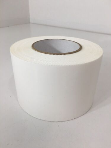 """Single Roll Of White Poly Tape 4/"""" Width x55yd Length Smooth Gloss Finish New"""