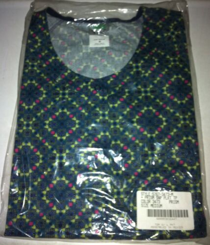 Print Scrub SNAP DOWN Top Multi-Colored Prism pattern Mixed sizes avail.
