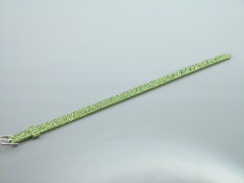 Personalized Custom Name Glitter Green PU Leather Wristband Bracelet Rhinestone