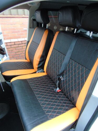 TO FIT A VW TRANSPORTER T5 VAN ORANGE // BK BENTLEY D SEAT COVERS 55 SPEC